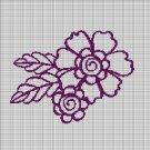 PURPLE FLOWER 3 CROCHET AFGHAN PATTERN GRAPH