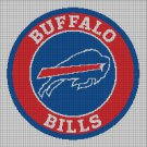 Buffalo Bills 3 american football logo cross stitch pattern in pdf