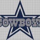 Dallas Cowboys american football logo cross stitch pattern in pdf