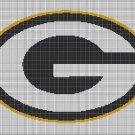 Green Bay Packers american football logo cross stitch pattern in pdf