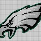 Philadelphia Eagles american football logo cross stitch pattern in pdf