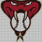 Arizona Diamond Backs baseball logo cross stitch pattern in pdf