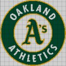 Oakland Atletics baseball logo cross stitch pattern in pdf
