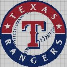 Texas Rangers baseball logo cross stitch pattern in pdf