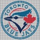 Toronto Blue Jays baseball logo cross stitch pattern in pdf