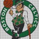 Boston Celtic logo cross stitch pattern in pdf