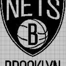 Brooklyn Nets logo cross stitch pattern in pdf