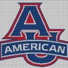 American Eagles logo cross stitch pattern in pdf