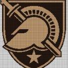 Army Black Knights logo cross stitch pattern in pdf