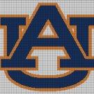 Auburn Tigers logo cross stitch pattern in pdf