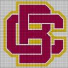 Bethune-Cookman Wildcats logo cross stitch pattern in pdf