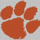Clemson Tigers logo cross stitch pattern in pdf