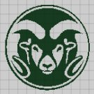 Colorado State Rams logo cross stitch pattern in pdf