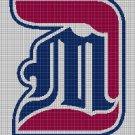 Detroit Titans logo cross stitch pattern in pdf
