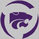 Kansas State Wildcats logo 2 cross stitch pattern in pdf