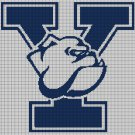 Yale Bulldogs logo cross stitch pattern in pdf