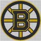 Boston Bruins logo cross stitch pattern in pdf