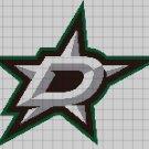 Dallas Start logo cross stitch pattern in pdf
