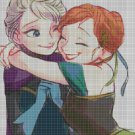 Frozen princesses cross stitch pattern in pdf DMC