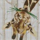 Funny giraffe cross stitch pattern in pdf DMC