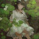 Girl in the lake cross stitch pattern in pdf DMC