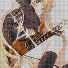 Girl with guitar 2 cross stitch pattern in pdf DMC