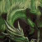Green Dragon 2 cross stitch pattern in pdf DMC