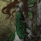 Green fairy cross stitch pattern in pdf DMC