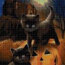 Halloween Cats cross stitch pattern in pdf DMC
