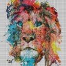 Lion head 2 art cross stitch pattern in pdf DMC