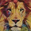 Lion head3 art cross stitch pattern in pdf DMC