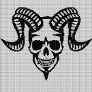DEVIL SKULL CROCHET AFGHAN PATTERN GRAPH