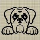 DOG HEAD 10 CROCHET AFGHAN PATTERN GRAPH