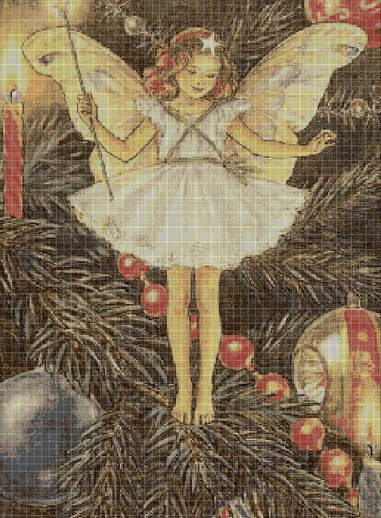 Flower fairy 54 cross stitch pattern in pdf  DMC