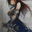 Girl with sword 4 cross stitch pattern in pdf DMC
