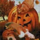 Halloween's Pets cross stitch pattern in pdf DMC