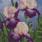 Irises cross stitch pattern in pdf