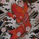 Japanese fish cross stitch pattern in pdf DMC