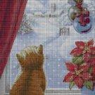 Kitten Chritmas cross stitch pattern in pdf DMC