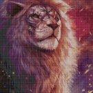 Lion head art cross stitch pattern in pdf DMC