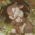 Little bunnies cross stitch pattern in pdf DMC