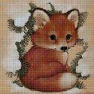 Little fox 2 cross stitch pattern in pdf DMC