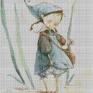 Little gnome cross stitch pattern in pdf DMC