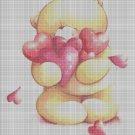 Love Bear cross stitch pattern in pdf