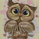 Love owl 2 cross stitch pattern in pdf