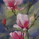 Magnolia cross stitch pattern in pdf DMC