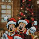 Mickey Mouse Christmas cross stitch pattern in pdf DMC