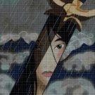 Mulan's sword cross stitch pattern in pdf DMC