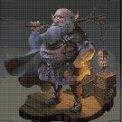 Old Dwarf cross stitch pattern in pdf DMC