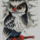Owl art cross stitch pattern in pdf